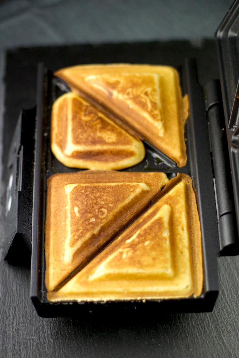Waffel im Sandwichmaker